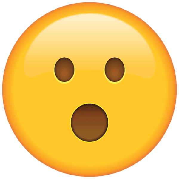 A shocked emoji to show how people react when they realise TA isn't needed for price action trading.