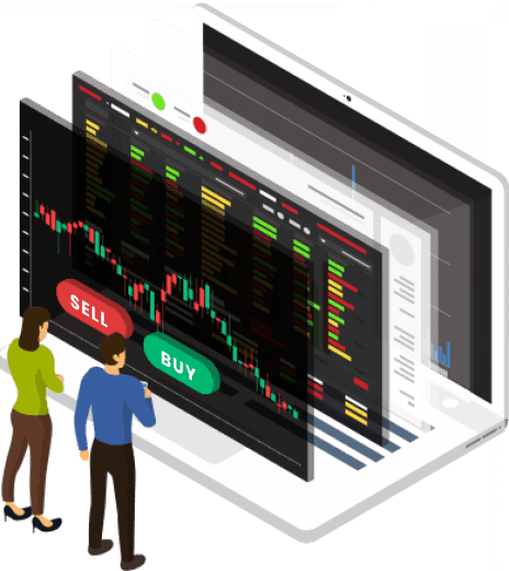 image showing trading stocks and shares